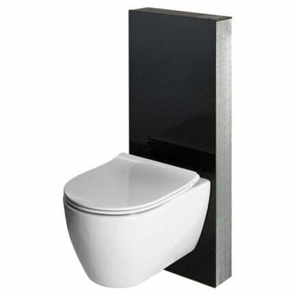 Καζανάκι Κομπλέ Bocchi Glassbox Για Κρεμαστή Λευκό & Μαύρο – White Glass