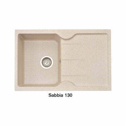 Νεροχύτης Ένθετος Crown Quadra Q83 Sabbia 130