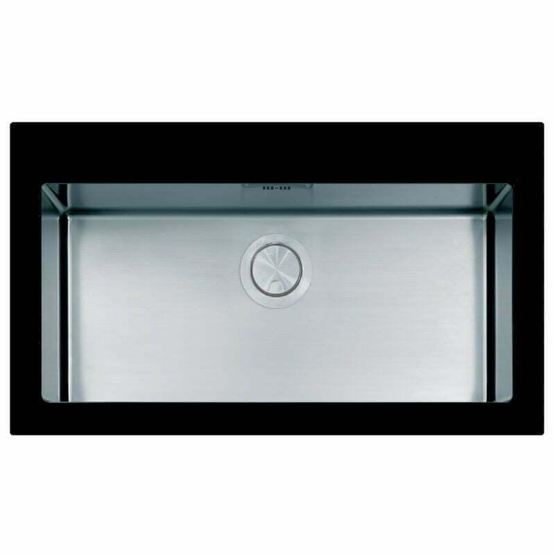 Νεροχύτης Ένθετος Apell Pura PUG861 Black Glass