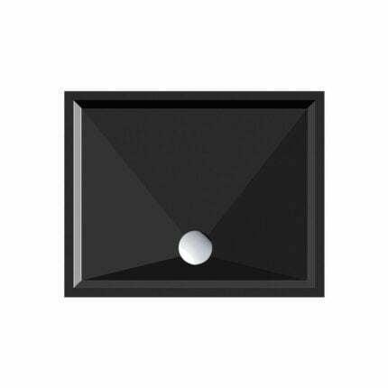 Ντουζιέρα Ορθογώνια Gsi Slim Black – 100×80 εκ.