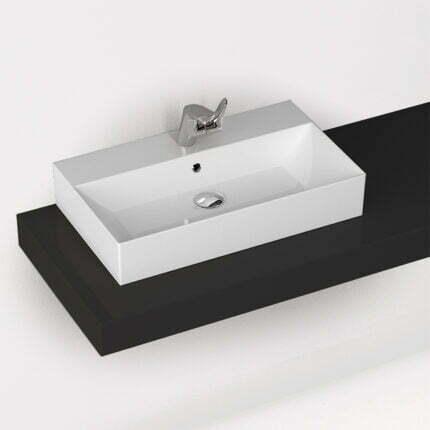 Νιπτήρας Επιτραπέζιος/Επικαθήμενος Bianco Ceramica Tetra N