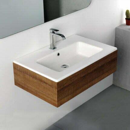 Νιπτήρας Ένθετος Bianco Ceramica Flat – 71×46 εκ.