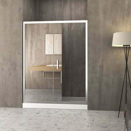 Διαχωριστικό Ντουζιέρας Δίφυλλο Orabella Energy Mirror