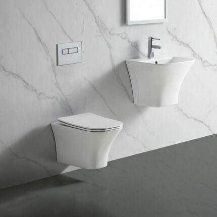 Λεκάνη Κρεμαστή Bianco Ceramica Delia Rimless
