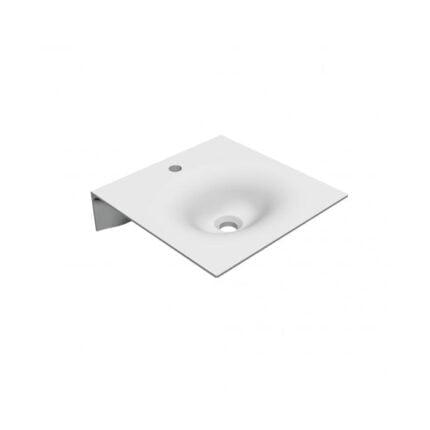 Κρεμαστός Νιπτήρας Scarabeo Veil – 46×46 εκ., Λευκό