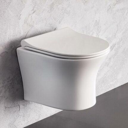 Λεκάνη Κρεμαστή Bianco Ceramica Aida Rimless