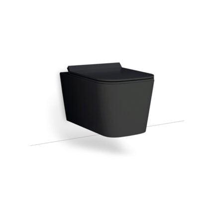 Λεκάνη Κρεμαστή Bianco Ceramica Enzo Rimless – Μαύρο Ματ