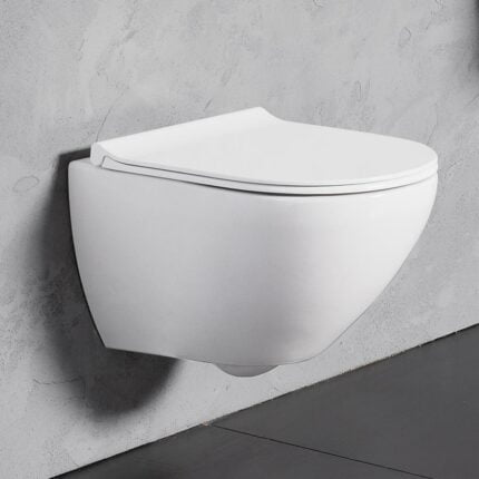 Λεκάνη Κρεμαστή Bianco Ceramica Remo Rimless – Λευκό